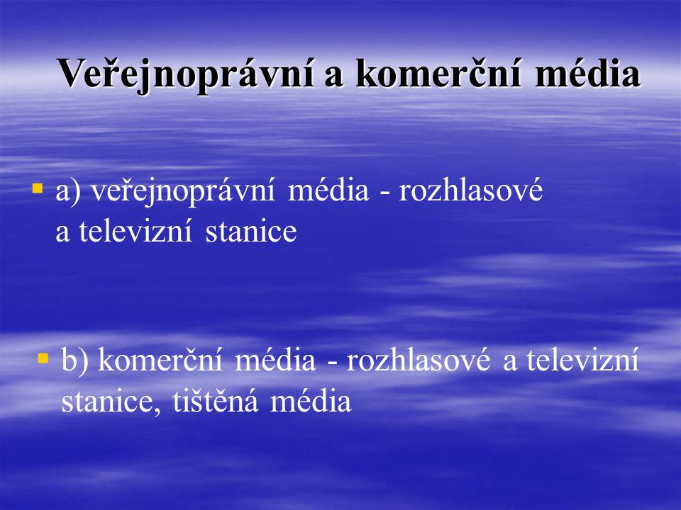 Veřejnoprávní a komerční média