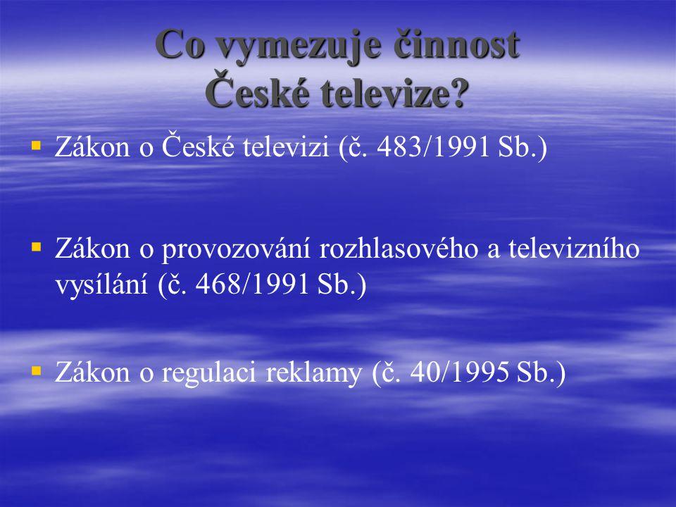 Co vymezuje činnost České televize