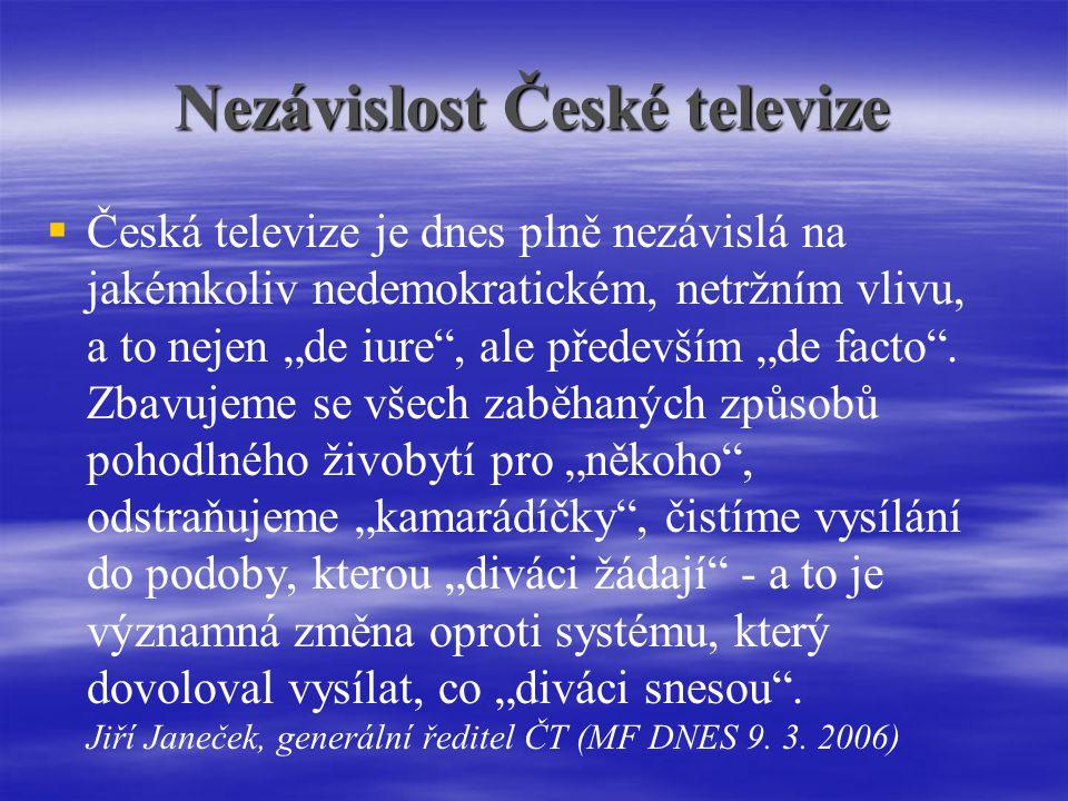 Nezávislost České televize