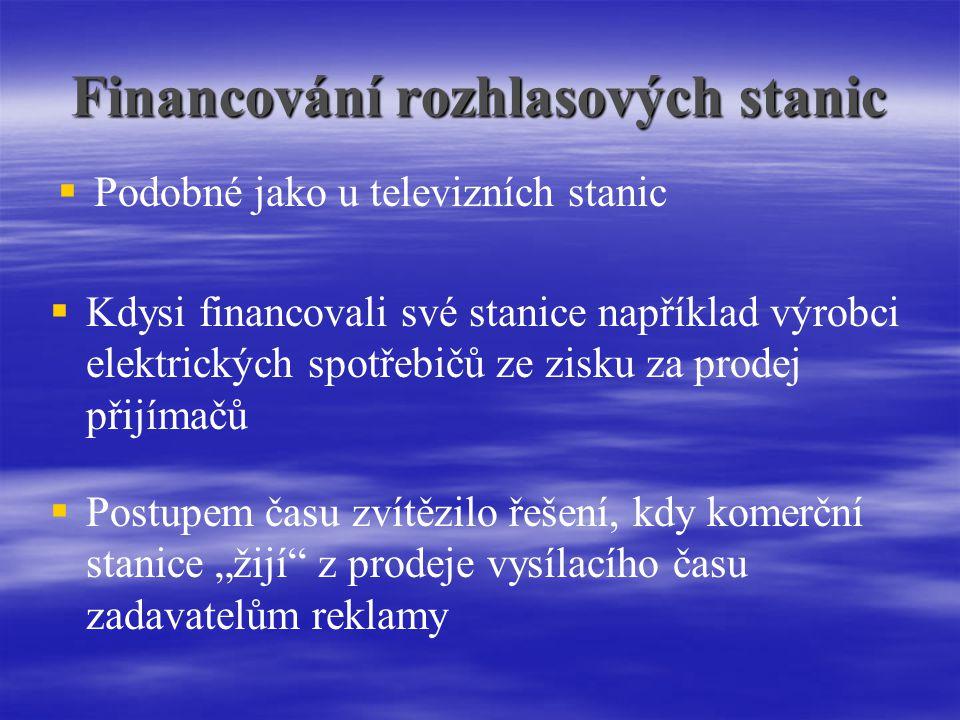 Financování rozhlasových stanic