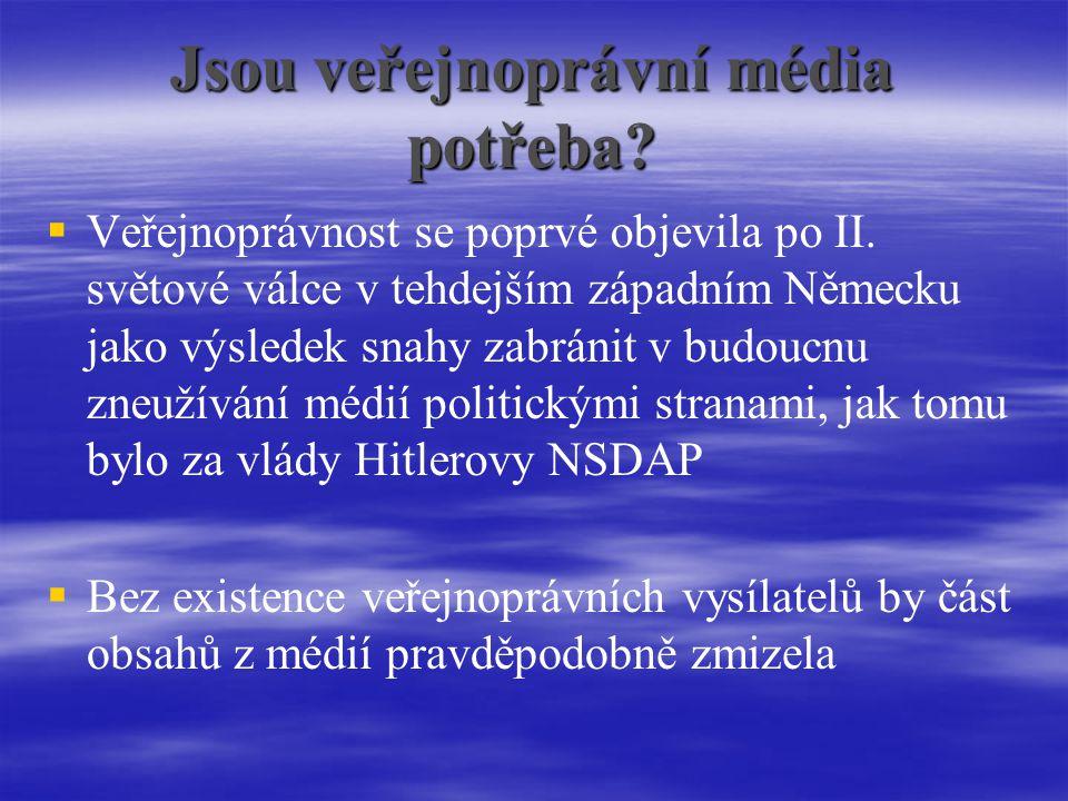 Jsou veřejnoprávní média potřeba