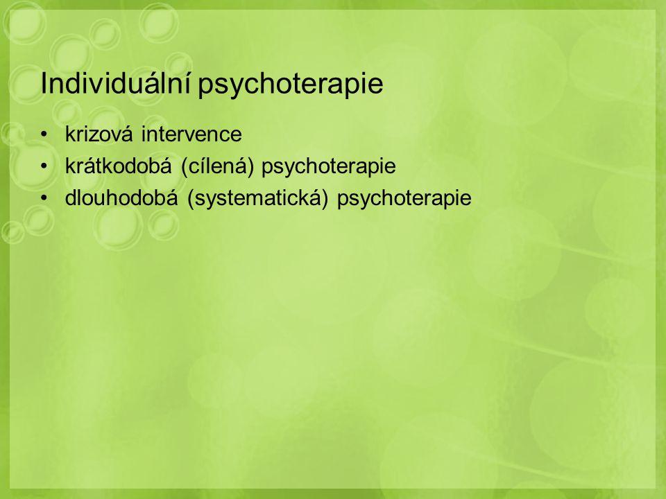 Individuální psychoterapie