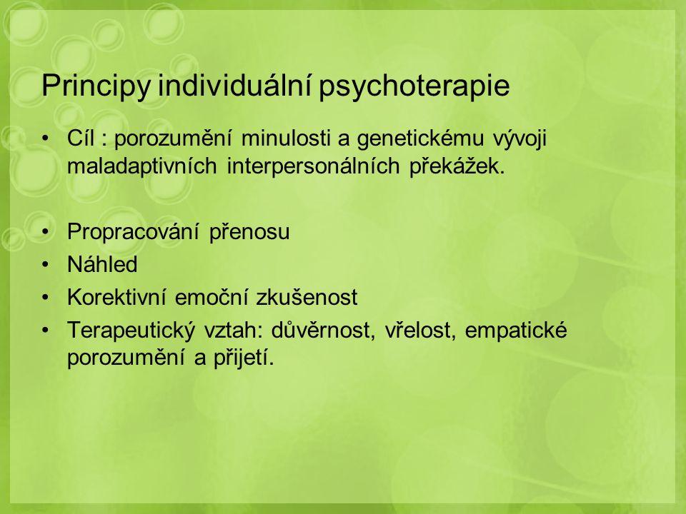 Principy individuální psychoterapie