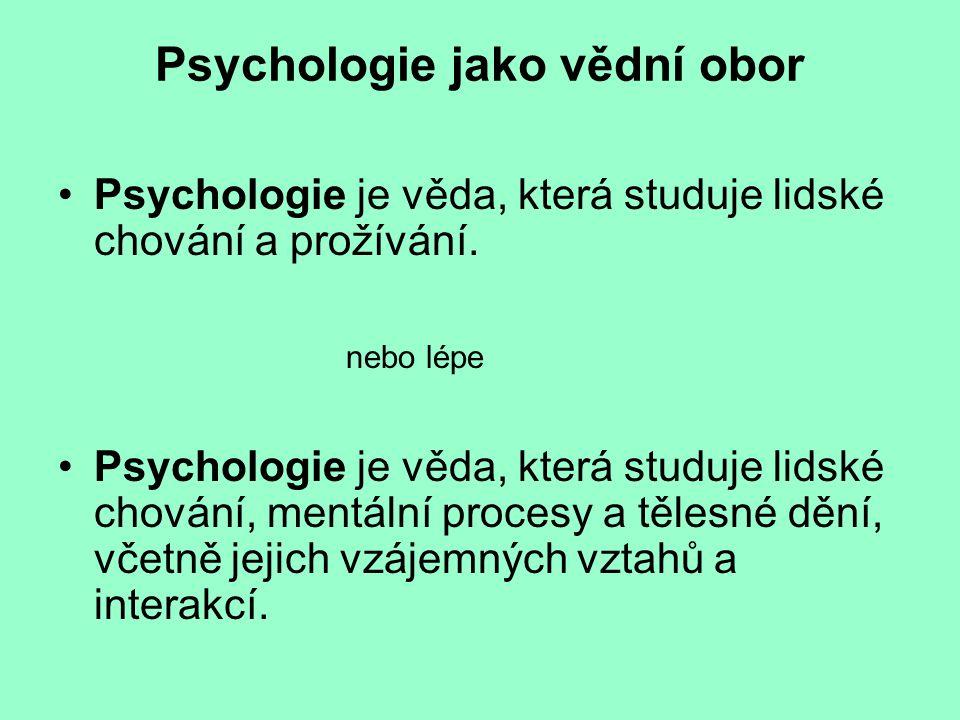 Psychologie jako vědní obor