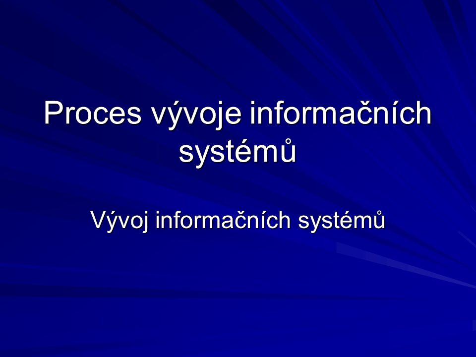 Proces vývoje informačních systémů
