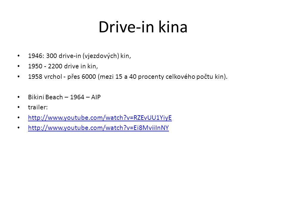 Drive-in kina 1946: 300 drive-in (vjezdových) kin,