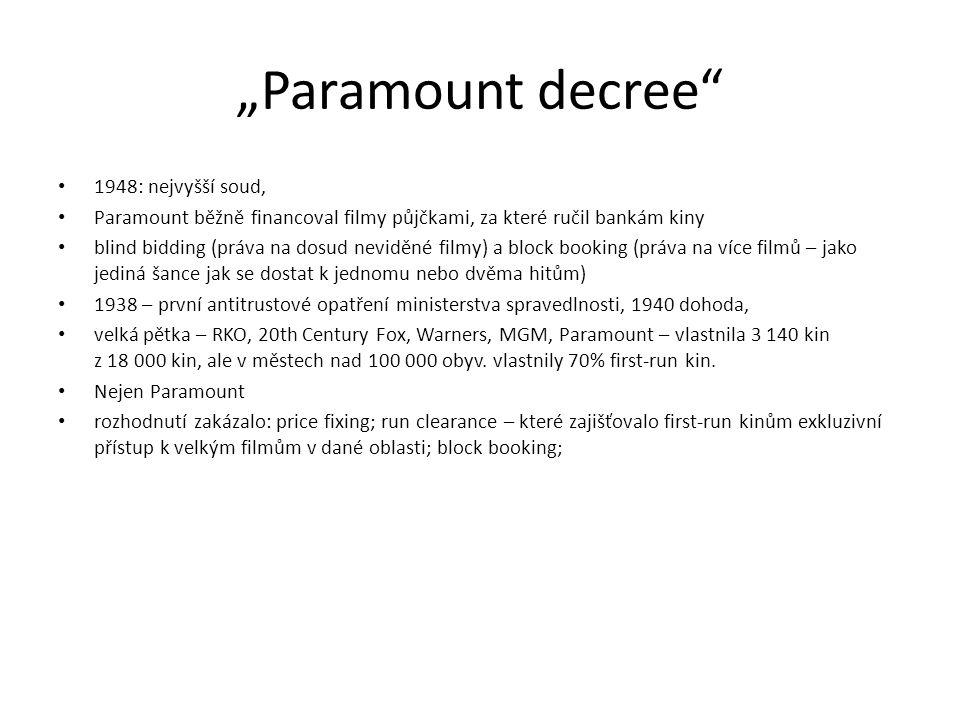"""""""Paramount decree 1948: nejvyšší soud,"""