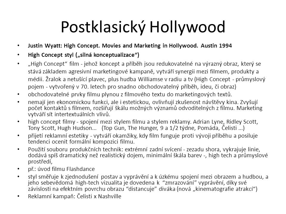 Postklasický Hollywood