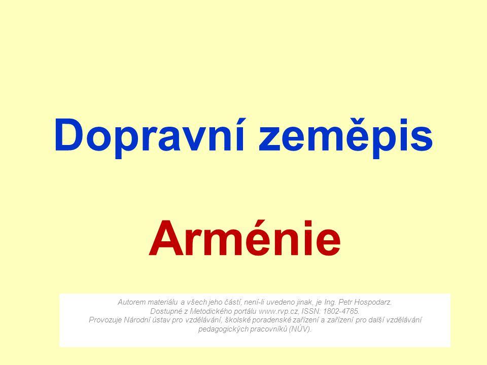 Arménie Dopravní zeměpis