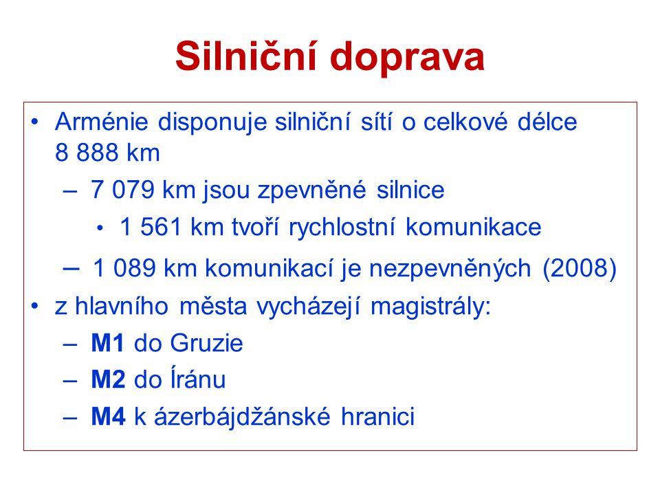 Silniční doprava 1 089 km komunikací je nezpevněných (2008)