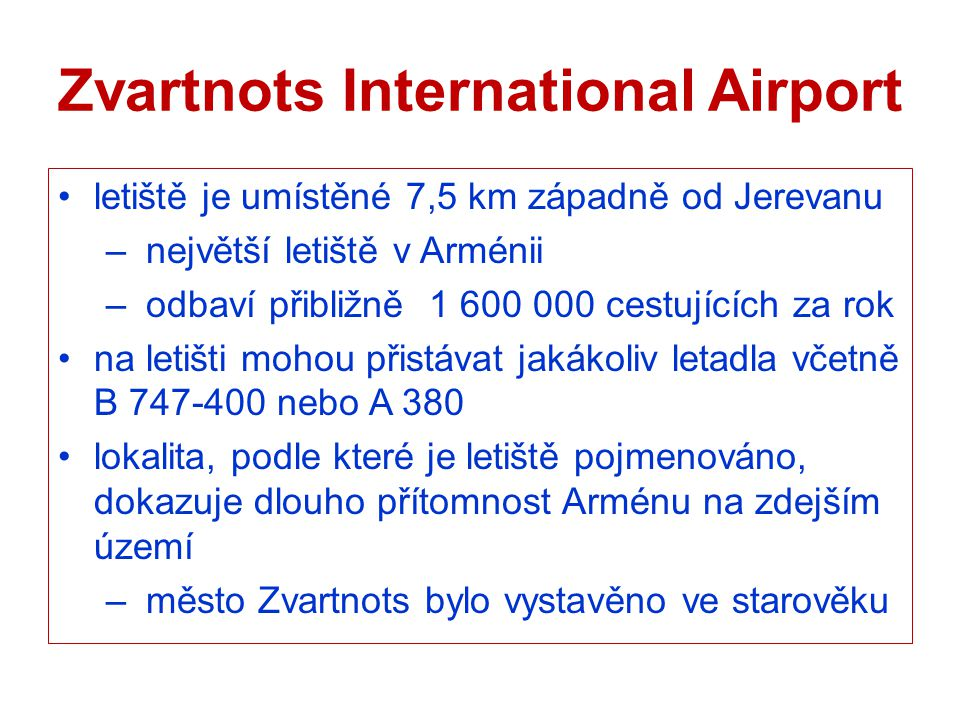 Zvartnots International Airport