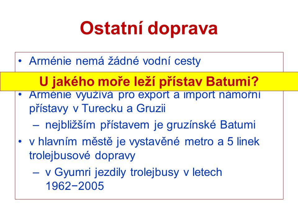 U jakého moře leží přístav Batumi