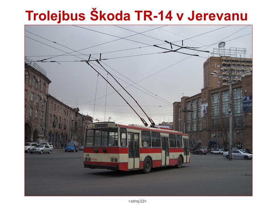Trolejbus Škoda TR-14 v Jerevanu