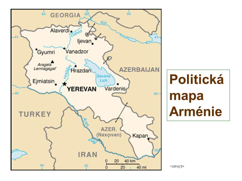 Politická mapa Arménie
