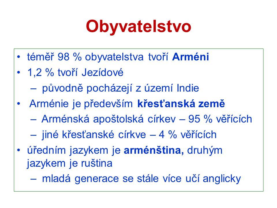 Obyvatelstvo téměř 98 % obyvatelstva tvoří Arméni 1,2 % tvoří Jezídové