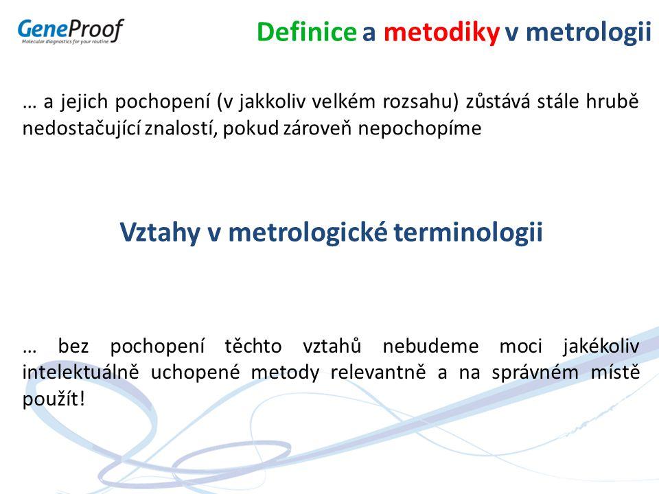 Definice a metodiky v metrologii