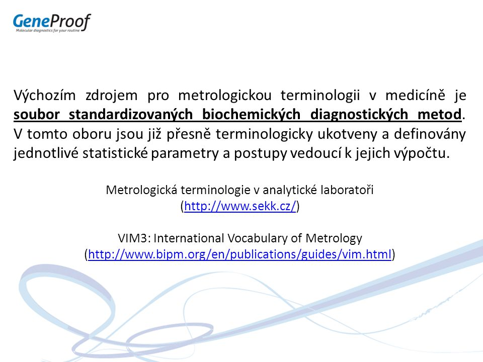 Metrologická terminologie v analytické laboratoři