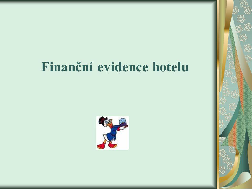 Finanční evidence hotelu