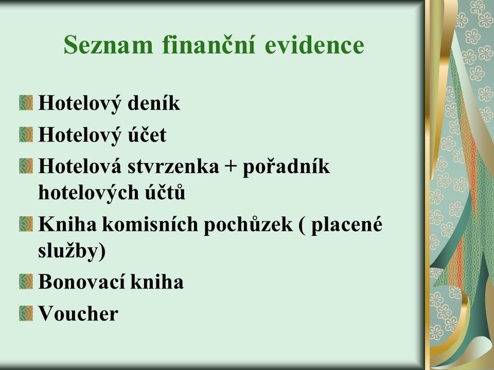 Seznam finanční evidence