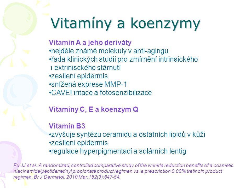 Vitamíny a koenzymy Vitamín A a jeho deriváty