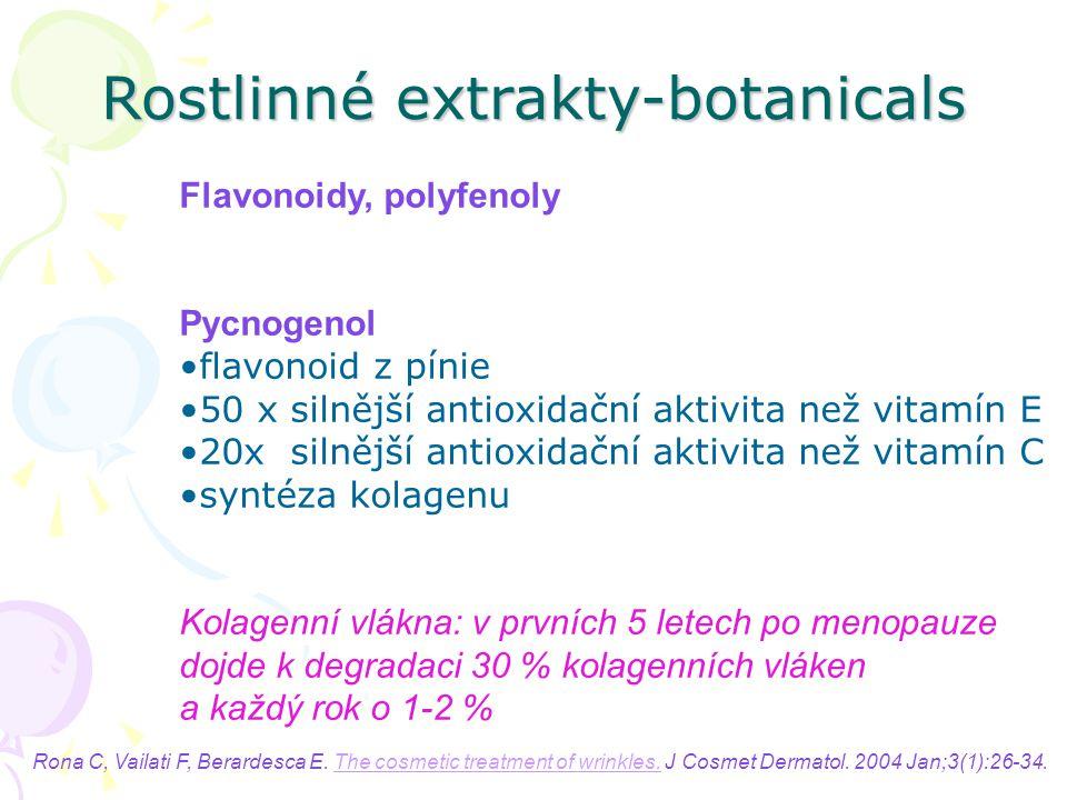 Rostlinné extrakty-botanicals
