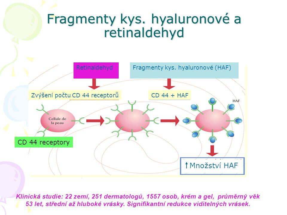 Fragmenty kys. hyaluronové a retinaldehyd
