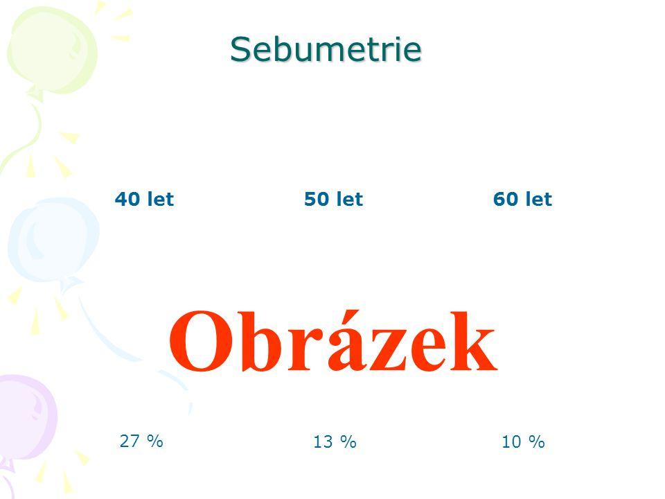 Sebumetrie 40 let 50 let 60 let Obrázek 27 % 13 % 10 %