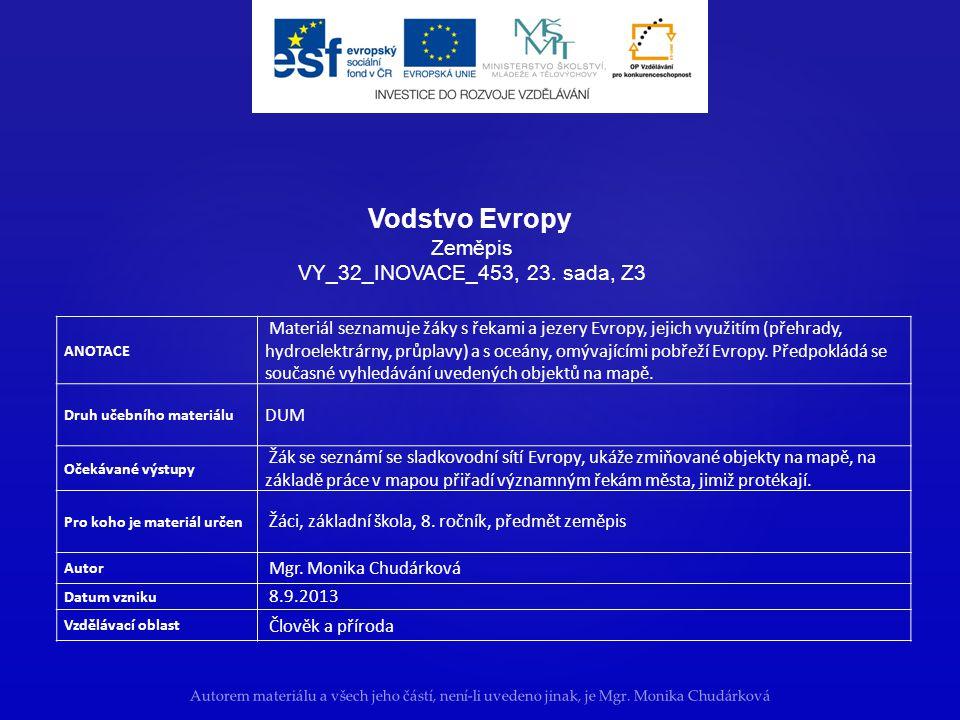 Vodstvo Evropy Zeměpis VY_32_INOVACE_453, 23. sada, Z3