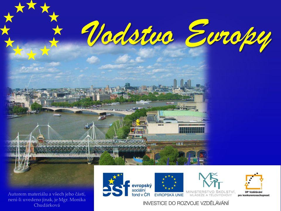 Vodstvo Evropy Autorem materiálu a všech jeho částí, není-li uvedeno jinak, je Mgr.