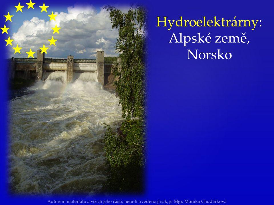 Hydroelektrárny: Alpské země, Norsko