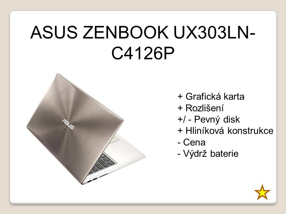 ASUS ZENBOOK UX303LN-C4126P + Grafická karta + Rozlišení