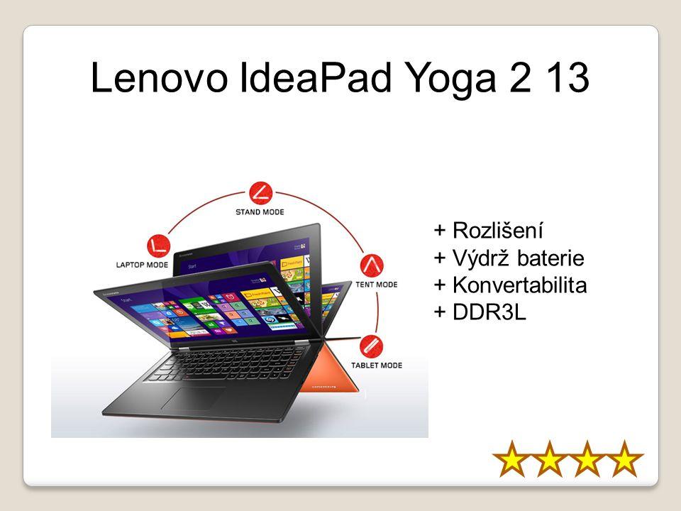 Lenovo IdeaPad Yoga 2 13 + Rozlišení + Výdrž baterie + Konvertabilita