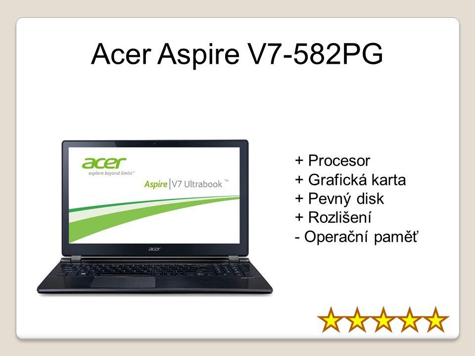 Acer Aspire V7-582PG + Procesor + Grafická karta + Pevný disk