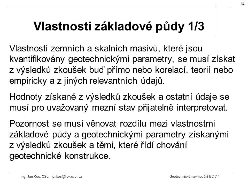 Vlastnosti základové půdy 1/3
