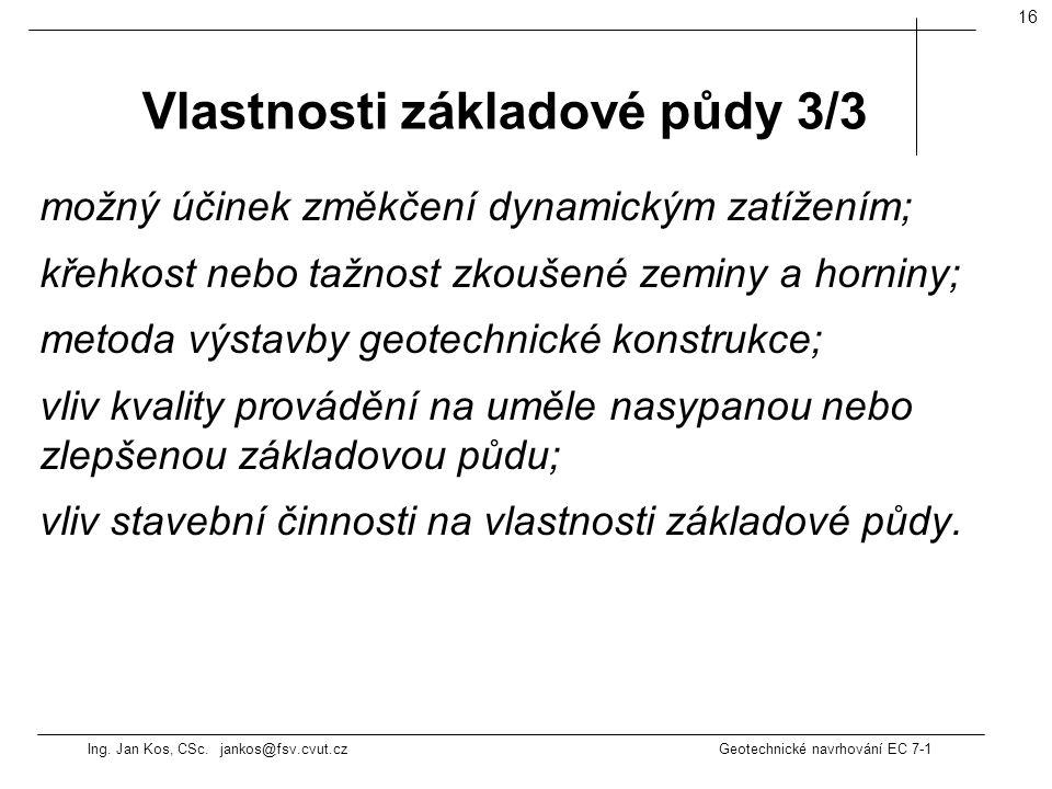 Vlastnosti základové půdy 3/3