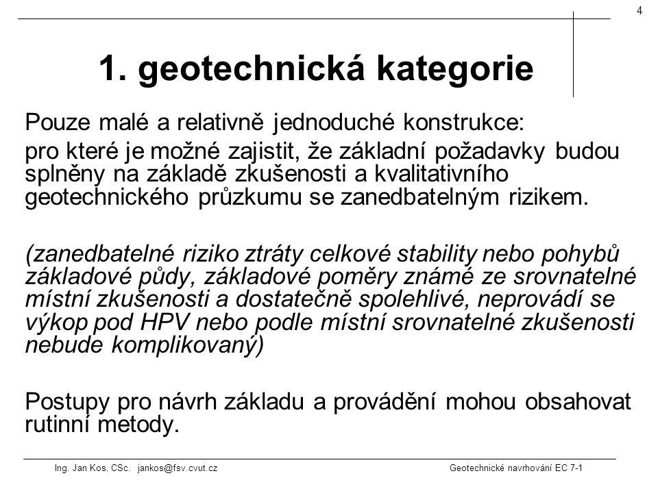 1. geotechnická kategorie