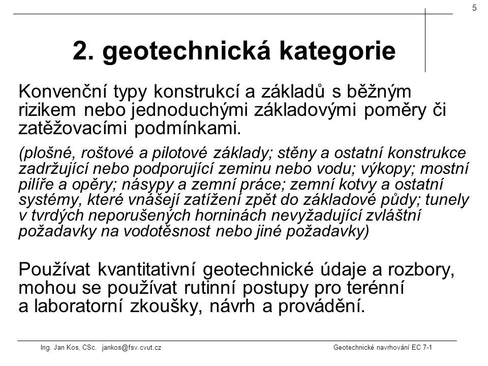 2. geotechnická kategorie