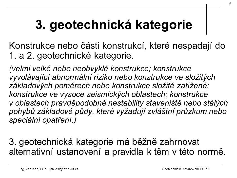 3. geotechnická kategorie