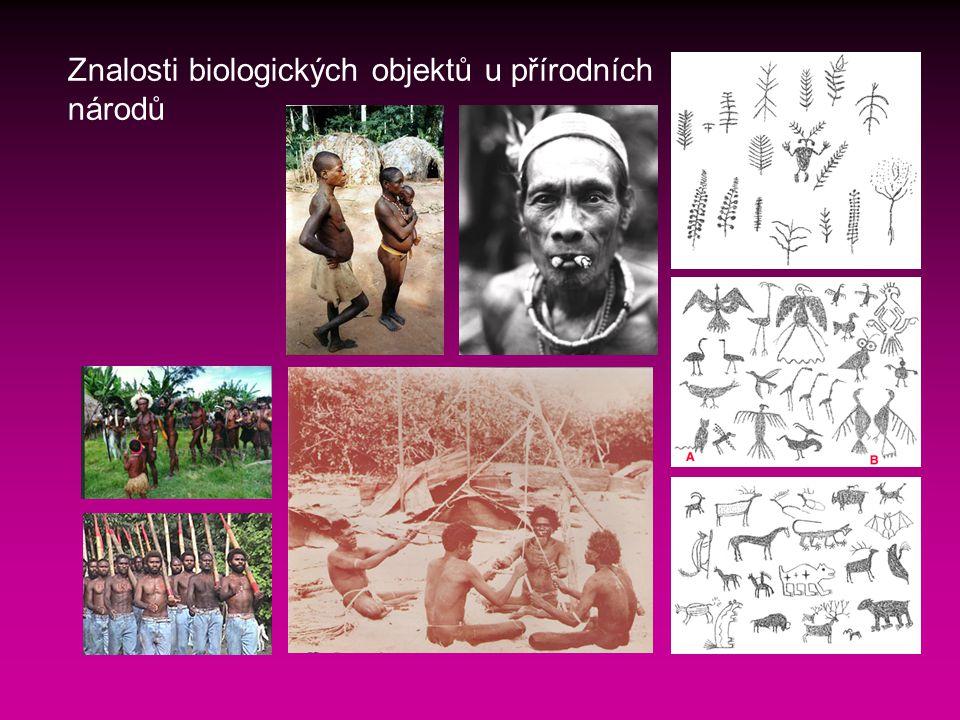 Znalosti biologických objektů u přírodních národů