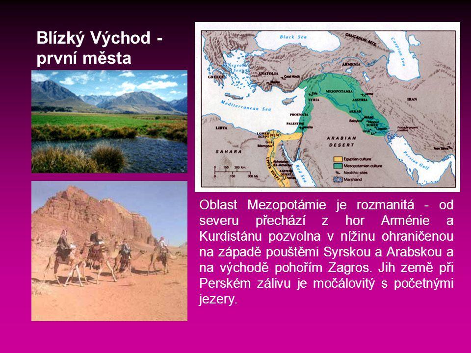 Blízký Východ - první města