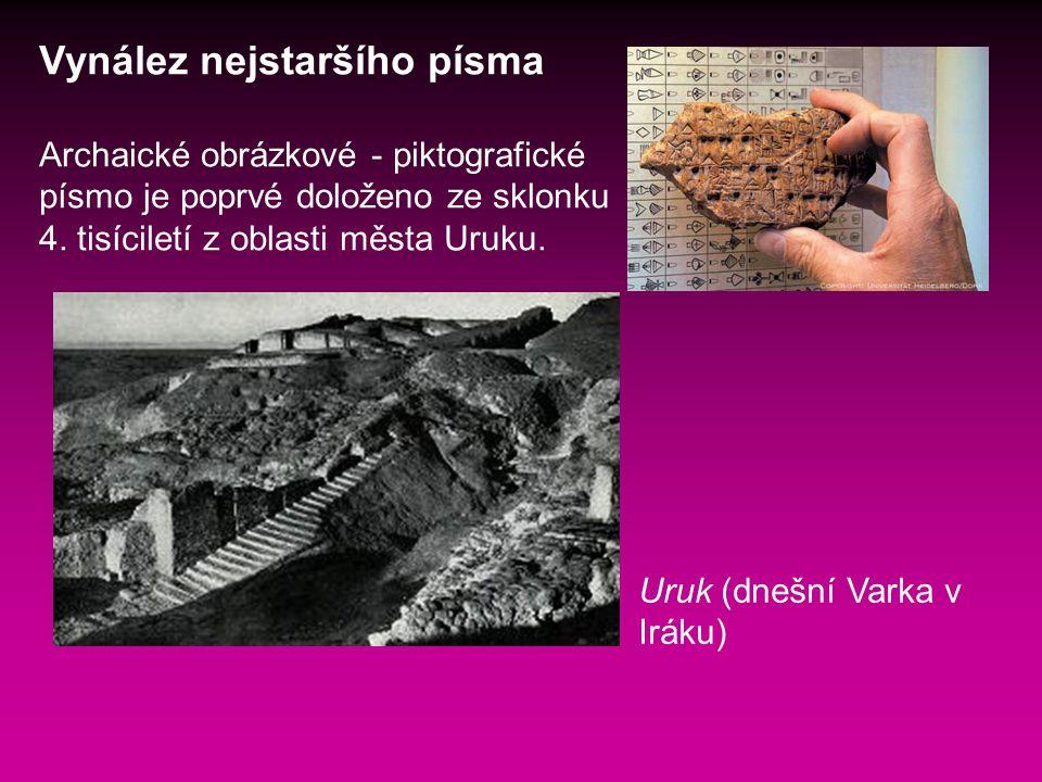 Vynález nejstaršího písma