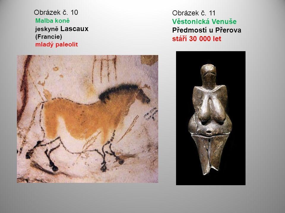 Obrázek č. 10 Malba koně jeskyně Lascaux (Francie) mladý paleolit