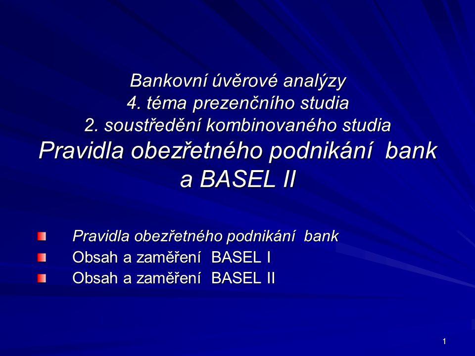 Bankovní úvěrové analýzy 4. téma prezenčního studia 2