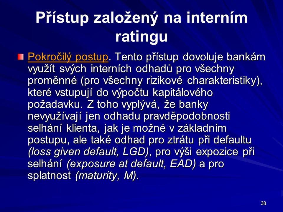 Přístup založený na interním ratingu
