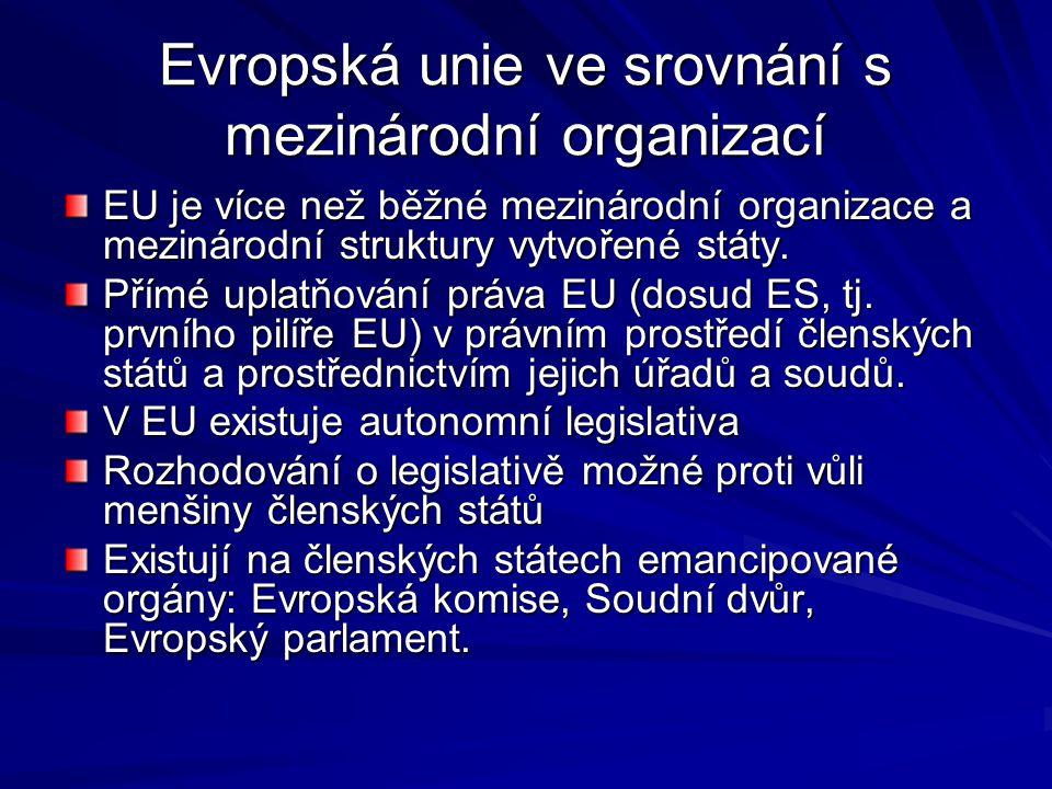 Evropská unie ve srovnání s mezinárodní organizací