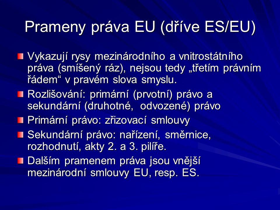 Prameny práva EU (dříve ES/EU)