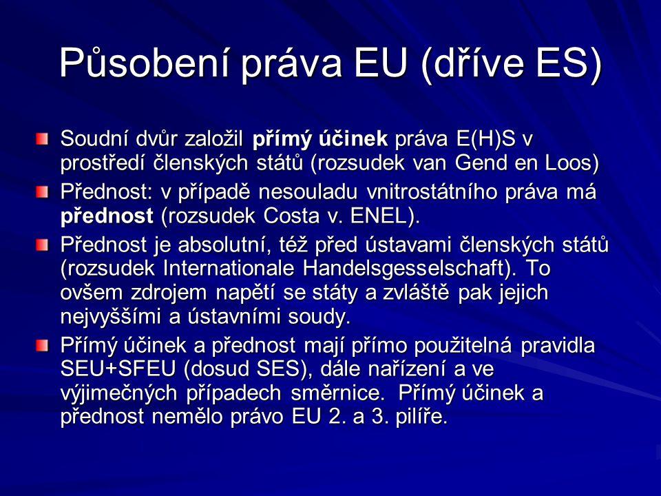 Působení práva EU (dříve ES)