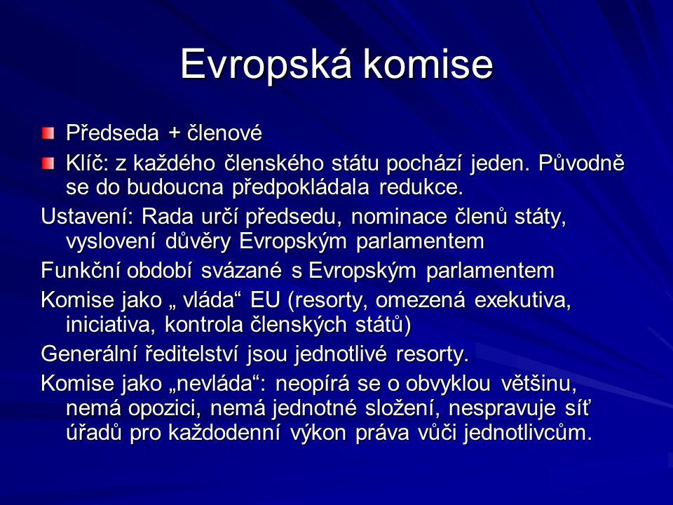 Evropská komise Předseda + členové