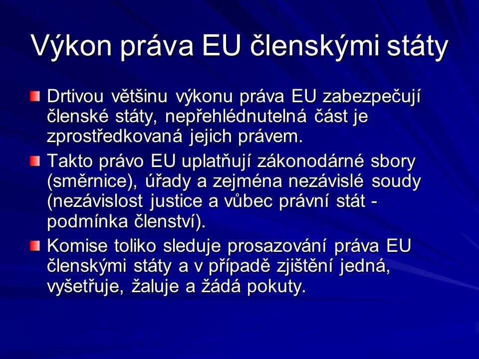 Výkon práva EU členskými státy