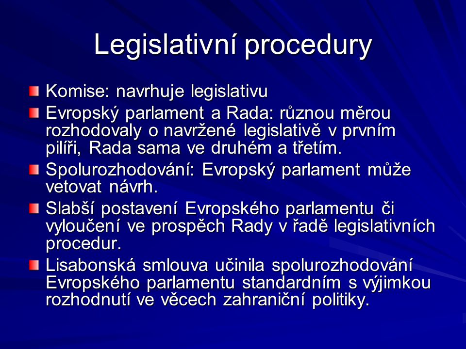 Legislativní procedury